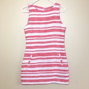 cupcakes & cashmere Dresses - Cupcakes and Cashmere red white linen shift dress